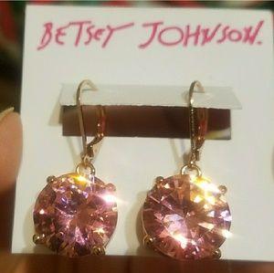 Betsey Johnson Oversized Pink earrings